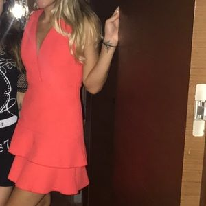 Sandro Red Dress Size 0